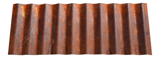 "1/2"" Corrugated<br>A606-4 aka Corten® Weathering Steel<br>Only available as a custom order"