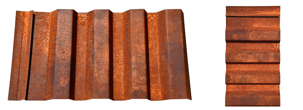 Western Wave Panel Rusted Wall Panel In Corten Or Bare Steel At Cortenroofing Com